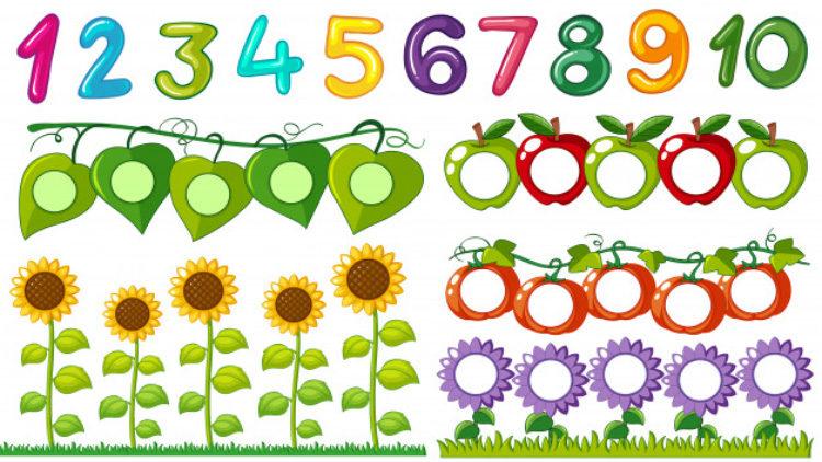 Состав числа до 10 домики